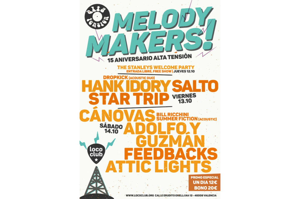 Melody Makers en sala Loco Club